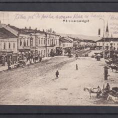 SIGHETU MARMATIEI  PIATA    CARUTE  CIRCULATA 1917 POSTA GERMANA CENZURA K.U.K., Printata