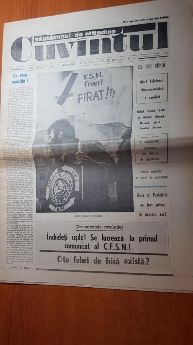 ziarul cuvantul 14 martie 1990