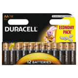 Set 12 baterii Duracell Basic, tip AA