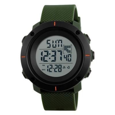 Ceas Barbatesc SKMEI CS1089, curea silicon, digital watch, functie cronometru, alarma, model verde foto
