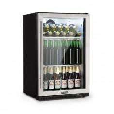 Klarstein Beersafe Pro, frigider, ușa de sticlă de 133 L, 2 rafturi, negru