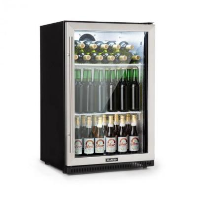 Klarstein Beersafe Pro, frigider, ușa de sticlă de 133 L, 2 rafturi, negru foto