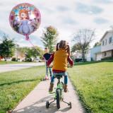 Balon folie Sofia roz, diametru 45 cm, pentru heliu sau aer