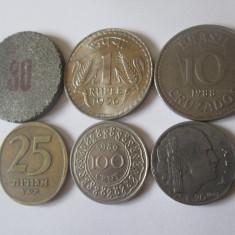 Lot 5 monede colectie+proba moneda 30,vedeti foto