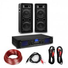 "Electronic-Star Amplificator HiFi și set de boxe, amplificator 2 x 350 W , 2 x boxe 8 "", 400 W RMS"