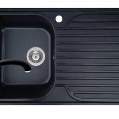 Pachet chiuveta soft compozit bucatarie Stripe ARTITHEK 1B 1D ST + Baterie OSSIA Pyramis Negru