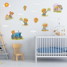 Set 26 Stickere copii - Ursuletul fermier 60x90cm plansa, STKWAC0008
