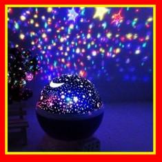 Lampa De Veghe Cu Proiector Rotativ Cu Stele Si Luna Star Master