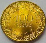 Moneda 100 PESOS - COLUMBIA, anul 2015 *cod 1048 = UNC din FASIC BANCAR