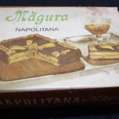 Cutie dulciuri reclama veche comunista de colectie MAGURA napolitana 1988 RARA