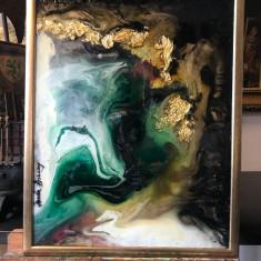 Lagna Verde. Peisaj abstract. Tablou abstract. Tablou original semnat
