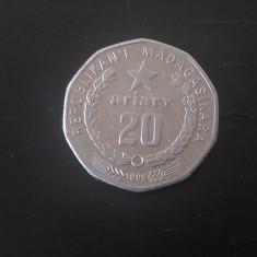 Moneda 20 Ariary Madagascar