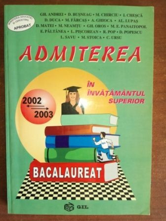 Admiterea in invatamantul superior- Gh. Andrei, D. Busneag