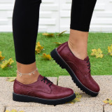 Pantofi Piele dama casual visinii Minilla