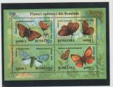 ROMANIA 2002  FLUTURI ENDEMICI Bloc 4 val. LP.1591 MNH**