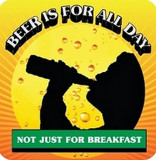 Suport pentru pahar - Beer is for alll day / Not just for breakfast | Boxer