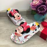 Cumpara ieftin Papuci albi de vara cu Minnie pentru copii fete 25 26