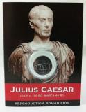 """Monedă Romană - Împărat Roman Iulius Caesar """"Denarius of Caesar"""", reproducere"""