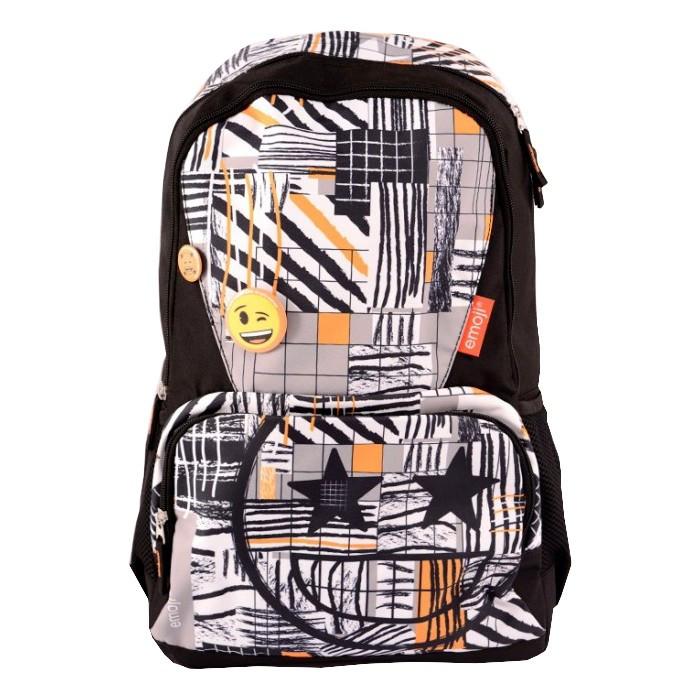 Ghiozdan gimnaziu Pigna Emoji Iconic negru-portocaliu EJRS1874-1