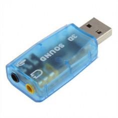 Placa de sunet pe USB 3D 7,1 CH Audio intrare microfon si iesire boxe/casti