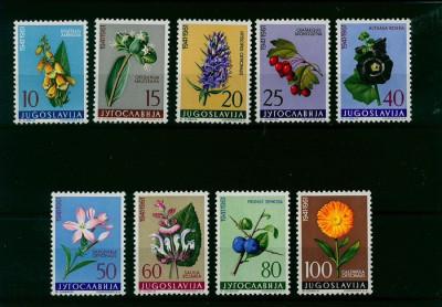 Iugoslavia 1961, flora Mi. 943/951 MNH, cat. 20 € foto