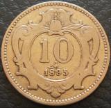 Moneda istorica 10 HELLER - AUSTRIA / Austro-Ungaria, anul 1895 *cod 1796, Europa