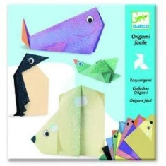 Origami facile. Le animaux polaires. Animale polare