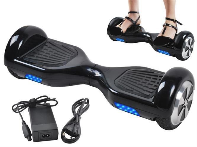 Scooter Electric Hoverboard cu LED, Viteza 10km/h