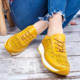 Pantofi dama Piele sport galbeni Salira -rl
