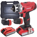 Raider Power Tools RDP-CDL21 Bormasina acumulator Li-Ion 20V 2 viteze 2x2Ah, 58Nm adaptor 90°