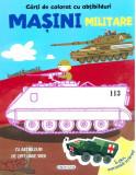 Carti de colorat cu abtibilduri - Masini militare