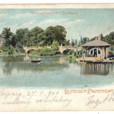 AD 1022 C. P. VECHE-GROSSER WEIHER MIT BOOTHAUS-LEPZIGER PALMENGARTEN 1901 IASSI