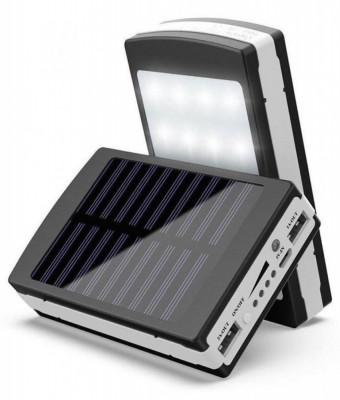Baterie externa - Power Bank 20000 mah - incarcare solara + lanterna 20 Led C187 foto
