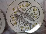 Set 4 Farfurii plate portelan Villeroy & Boch Oceanica. Colectie rara.