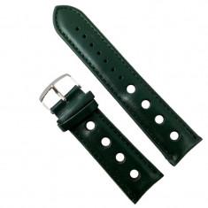 Curea de ceas din piele ecologic? verde-închis - 24mm WZ2861