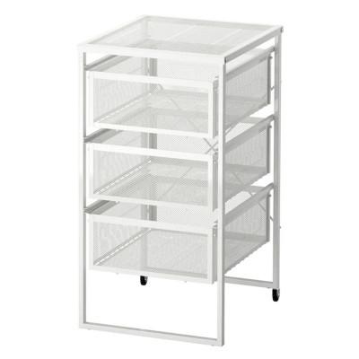 Organizator birou cu roti, 30 x 34 x 56 cm, Argintiu foto