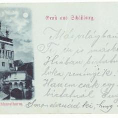 3230 - SIGHISOARA, Litho, Romania - old postcard - used - 1899, Circulata, Printata