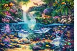 Puzzle Castorland 1500 Steve Read : JUNGLE PARADISE