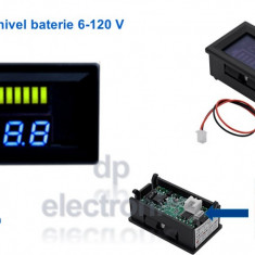 Voltmetru Auto indicator nivel baterie 6 - 120V