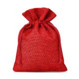 Săculeți textil dreptunghiulari 12x17cm (set 50 buc) - Roșu