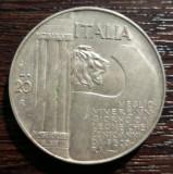 (A282) MONEDA DIN ARGINT ITALIA - 20 LIRE 1928,10 ANI DE LA TERMINAREA WW1, RARA, Europa