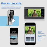 Sistem de intrare tip interfon cu inregistrare video si deschidere usa WIFI