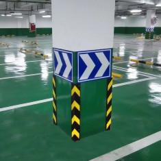 Protectie colturi parcare cu benzi reflectorizante