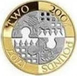 Moneda jubiliara ANGLIA - 2 lire 2007 - 300 de ani de la unire