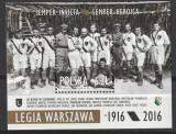 Sport,fotbal Legia Varsovia 100 ani de la infintare,Polonia