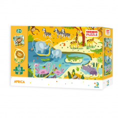Puzzle - Animale din Africa (18 piese)