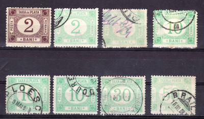 Romania 1881 - 1902 lot Taxa de plata foto