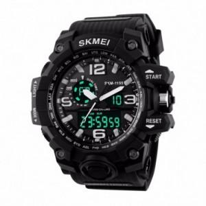 Ceas Barbatesc SKMEI CS907, curea silicon, digital watch, Functii- alarma, ora, data, cadran luminat, rezistent 3ATM