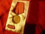 Medalia 40 Ani PCR in cutie originala si bareta