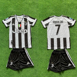 Compleu Echipament fotbal pentru copii RONALDO Juventus noul model 2021-2022, YXL, YXXL